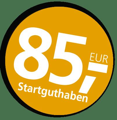 Jetzt zum Jubiläum 85 Euro Startguthaben sichern!