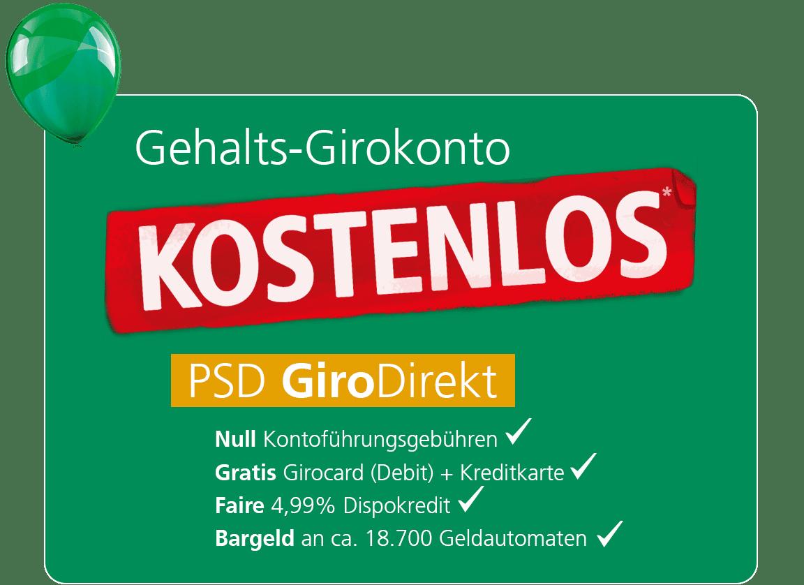 PSD GiroDirekt - Das kostenlose Gehaltskonto